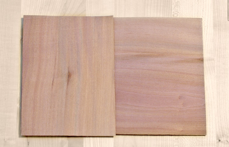 Layers of veneer to make them into plywood