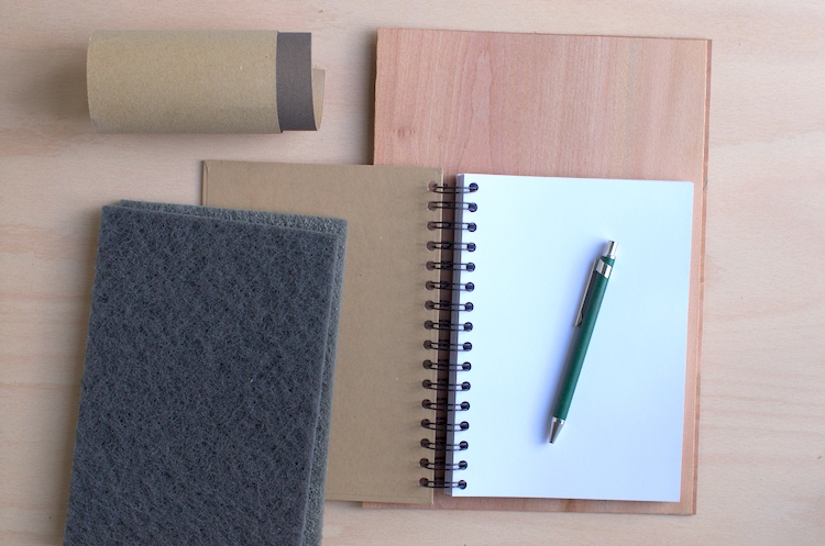 Material for making a wooden notebook