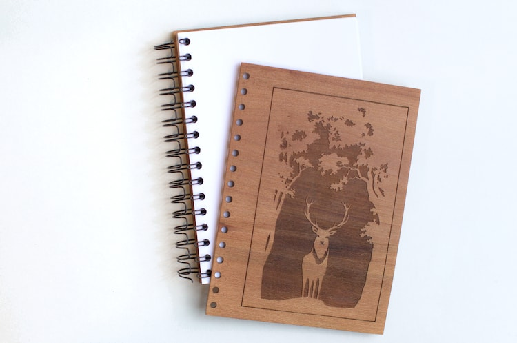 Front cover for the wooden notebook