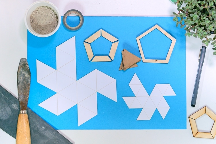 Material for making the geometric concrete planters