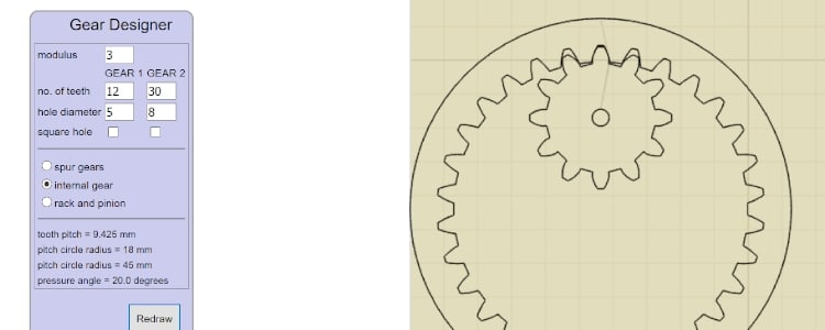 Gear Designer - SVG file generator for laser cutting