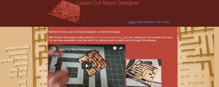 Maze Designer for Laser Cutting