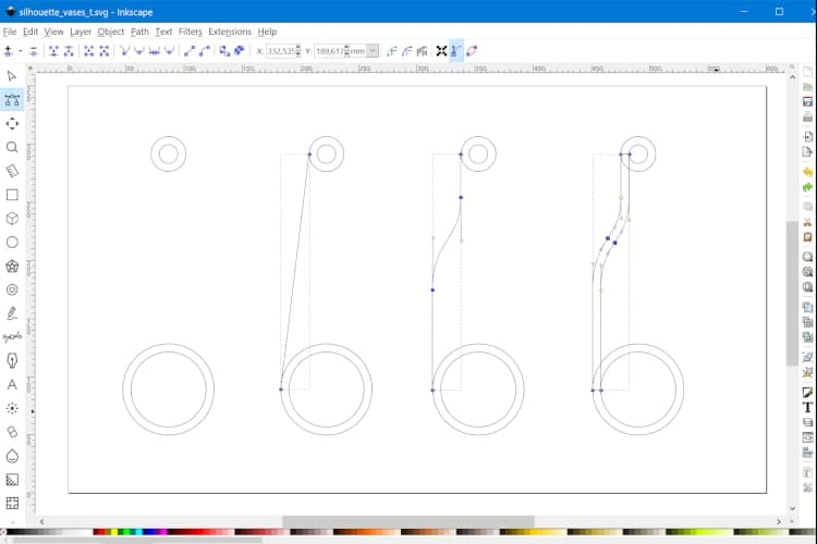 Designing the vase in Inkscape