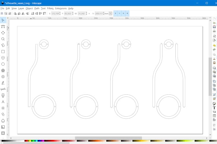 Drawing the laser cut joints in Inkscape