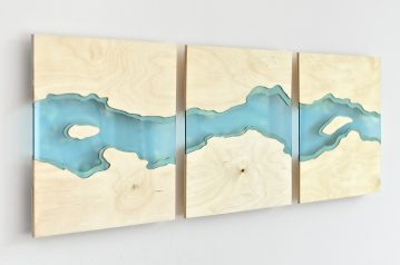 Laser cut wall art made from plywood and acrylic