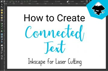 How to create connected text with Inkscape